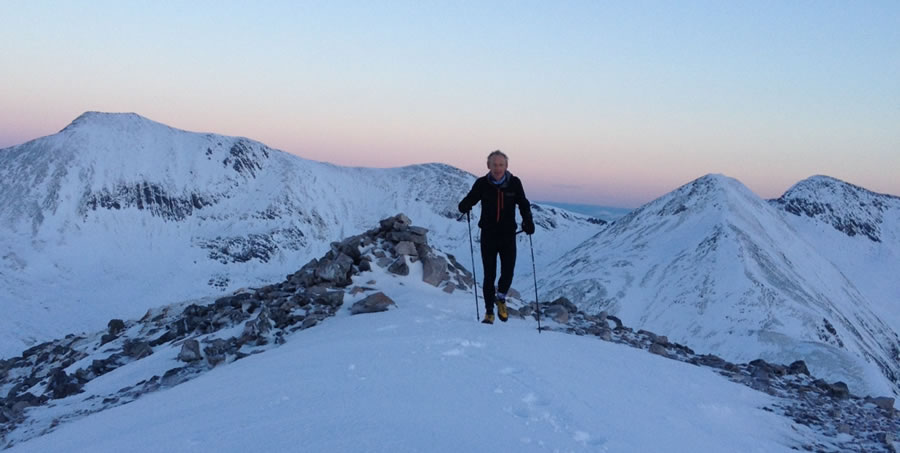Late afternoon on the Mamores with support again